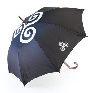Parapluie triskell blanc