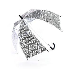 Parapluie transparent triskell vague