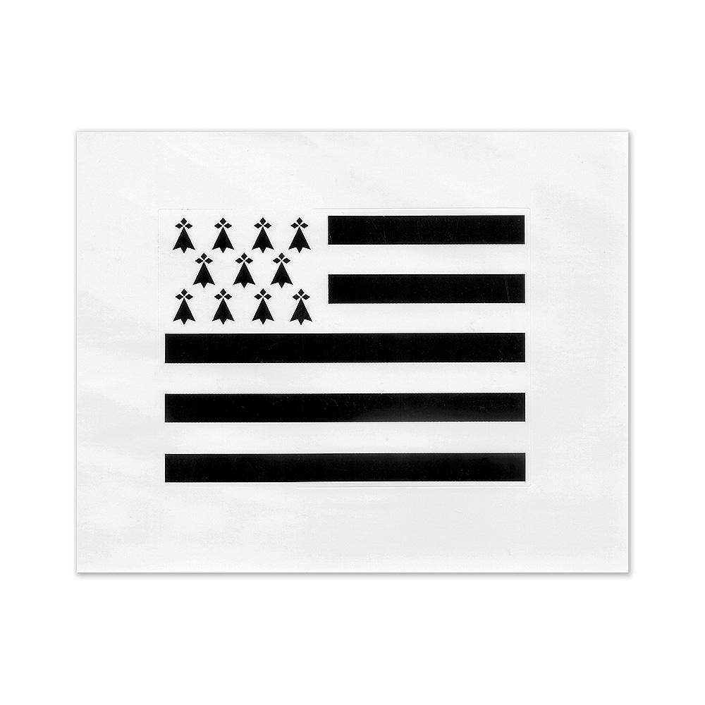 Autocollant drapeau Breton Breizh Bretagne gwen ha du