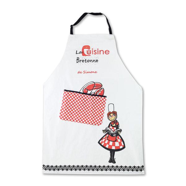 """Tablier """"La cuisine bretonne de Simone"""""""