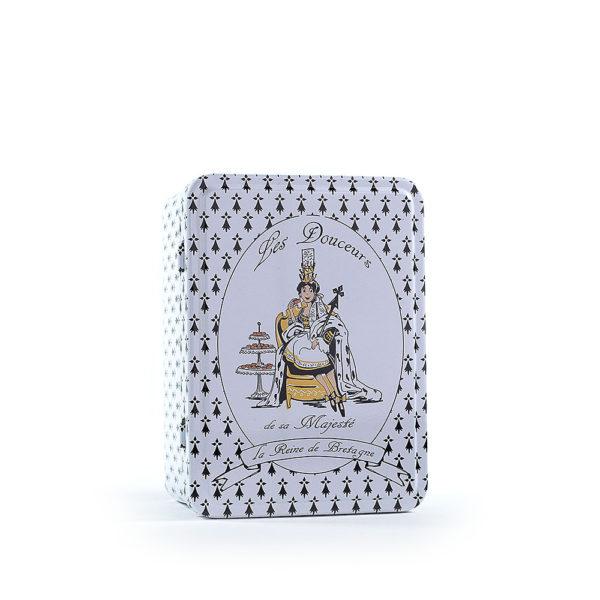 """Boîte métallique """"Les douceurs de sa majesté"""" demi format"""